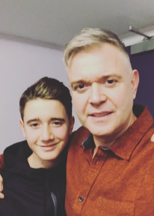 Darren Day (Right) in a selfie with his son as seen in December 2018