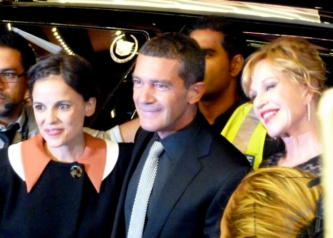 Elena Anaya with Antonio Banderas (Center) and Melanie Griffith (Right) at Toronto Film Festival 2011