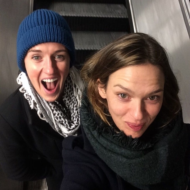 Elise Crombez (Right) in a selfie with Martica in December 2016