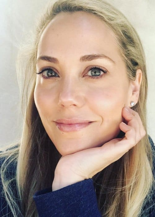 Elizabeth Berkley in an Instagram selfie as seen in April 2018