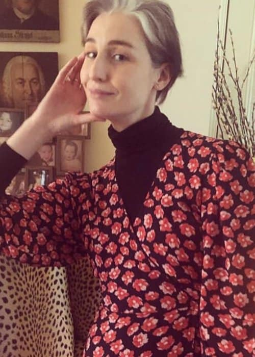 Erin O'Connor in an Instagram post in January 2019