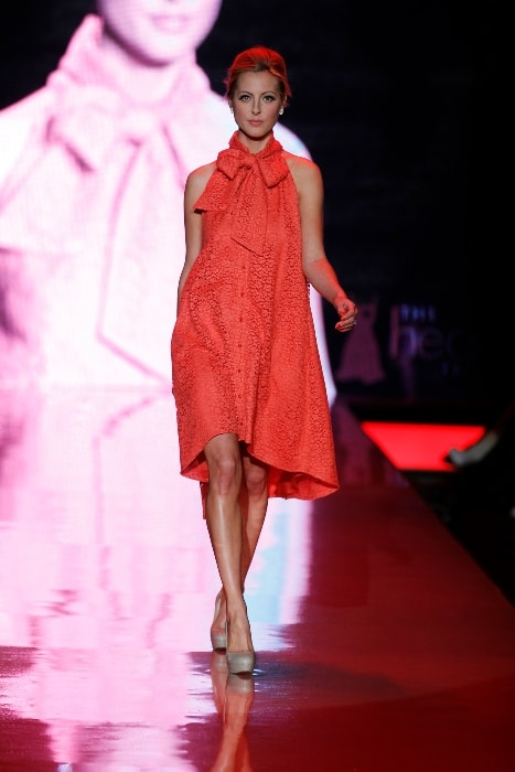 Eva Amurri while walking the ramp at The Heart Truth's Red Dress Collection Fashion Show in February 2011