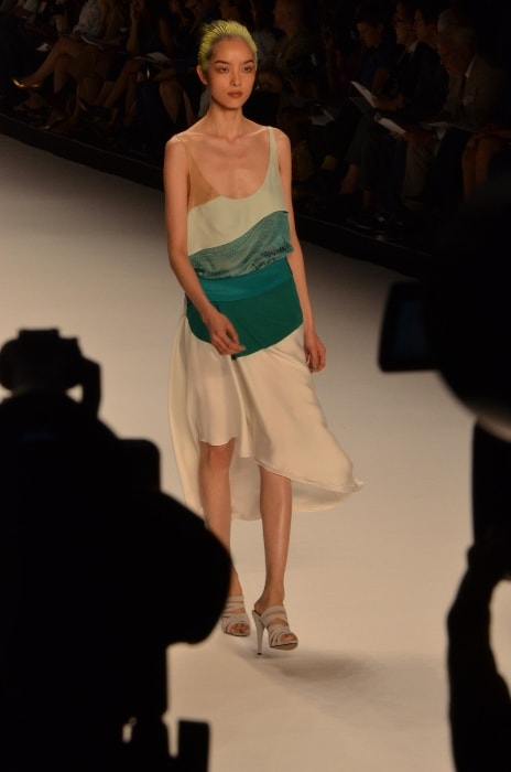 Fei Fei Sun as seen while walking the ramp at the SS2012 Narciso Rodriguez fashion show