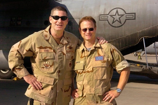 Gary Sinise (Right) with USAF General Robin Rand (Ret.)