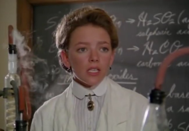 Gema Zamprogna in a still from Road to Avonlea