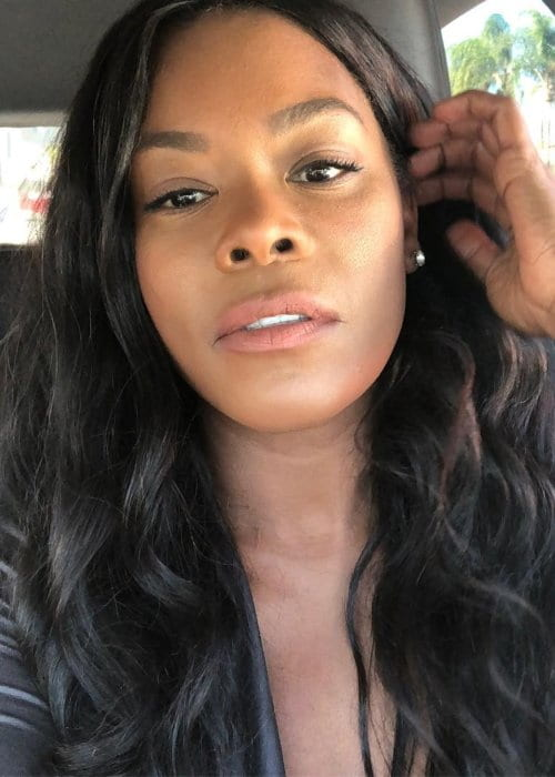 Golden Brooks in a selfie in December 2018