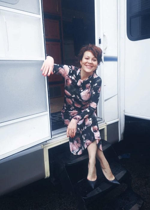 Helen McCrory as seen while smiling