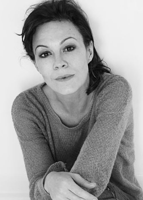 Helen McCrory in a black-and-white picture