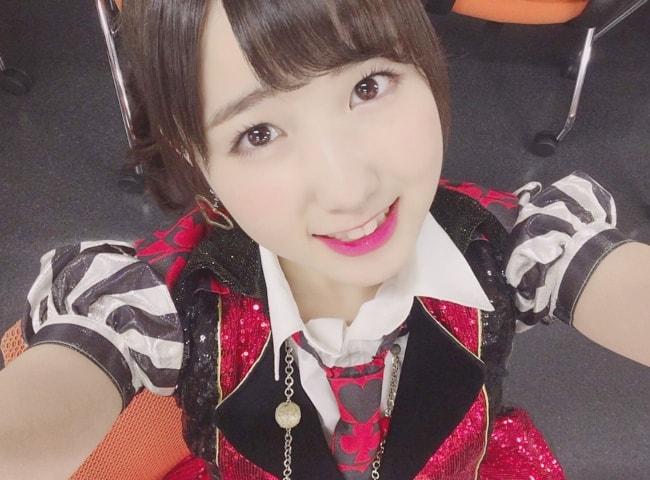 Hitomi Honda in a selfie in August 2018