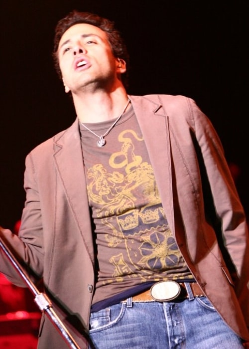 Howie Dorough while performing at Kiss concert in December 2005