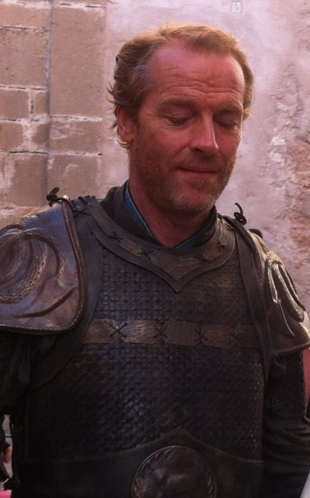 Iain Glen while filmimg 'Game of Thrones'