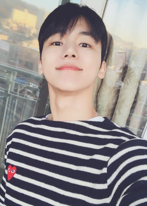 Insoo taking a selfie in December 2018