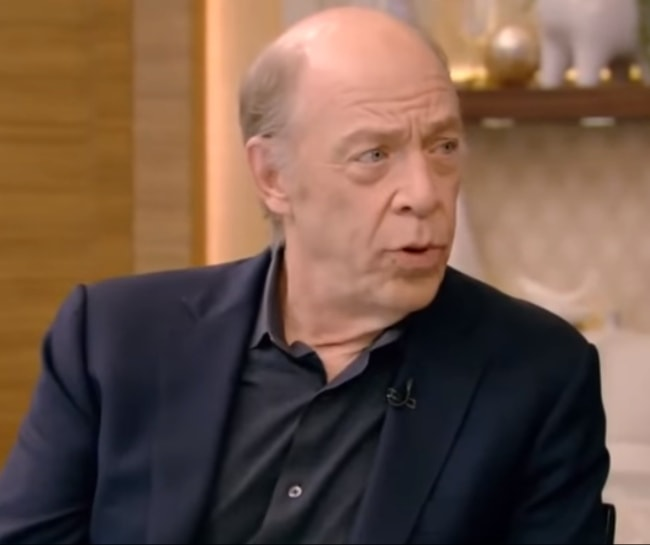 J.K. Simmons during an interview on Live with Kelly and Ryan