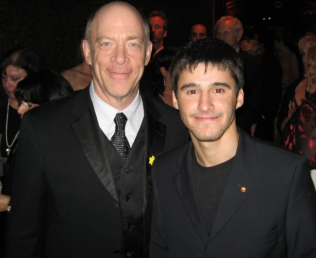 J.K. Simmons with producer Josh Wood at the 15th Annual Screen Actors Guild Awards at Shrine Auditorium, Los Angeles, California