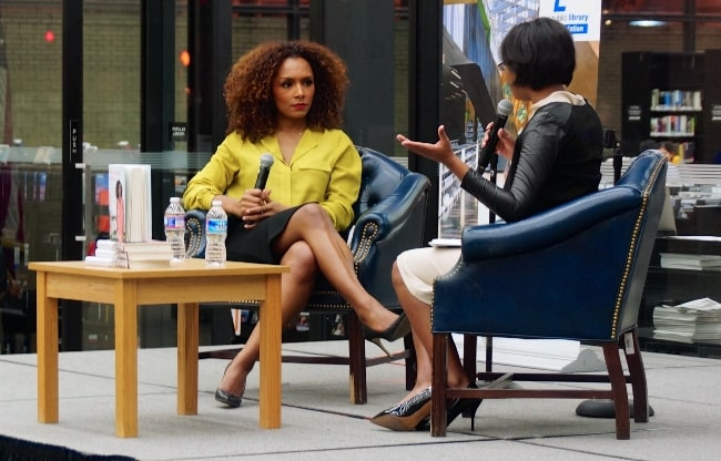 Janet Mock as seen during a book reading event in Washington DC in February 2014