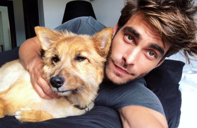Jon Kortajarena in a selfie with his dog as seen in June 2018