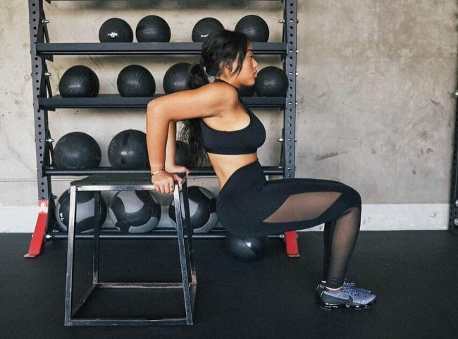 Jordyn Woods as seen while working out in September 2018