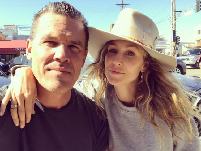 Kathryn Boyd and Josh Brolin in a selfie in April 2018