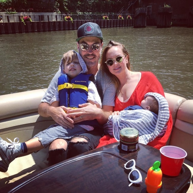Kaylee DeFer boating down the Chicago River with her family in July 2017