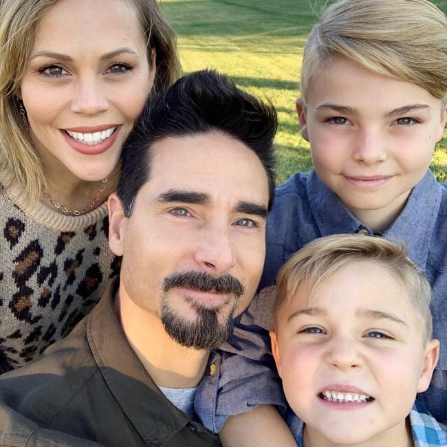 Kevin Richardson taking a selfie with his family in November 2018