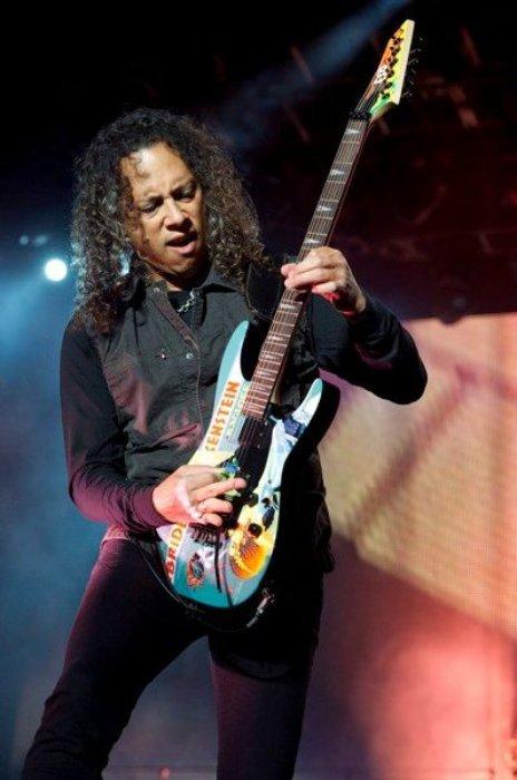 Kirk Hammett as seen in 2010