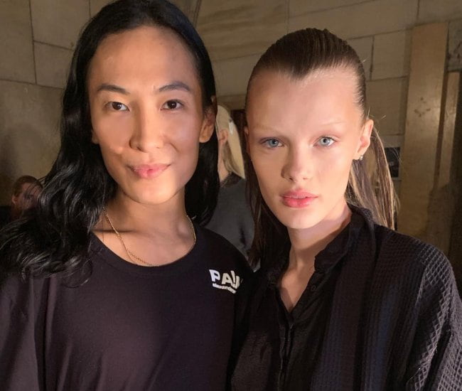 Kris Grikaite (Right) and Alexander Wang as seen in December 2018