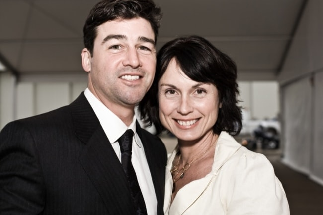 Kyle Chandler with Kathryn Chandler