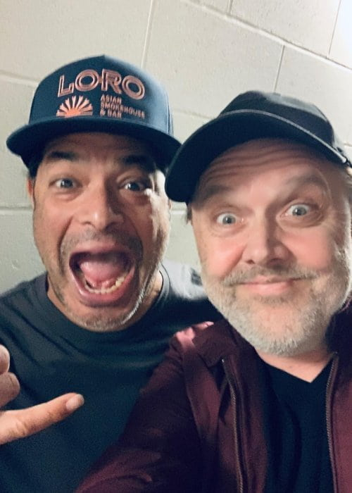 Lars Ulrich (Right) and Robert Trujillo in a selfie in December 2018