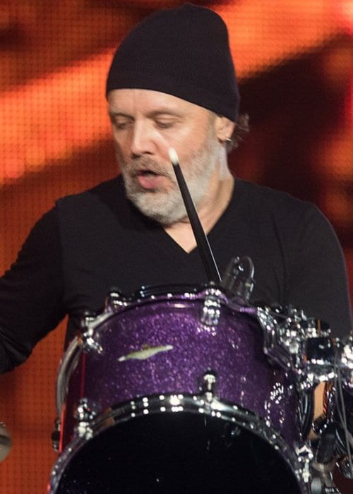 Lars Ulrich during a performance in October 2016