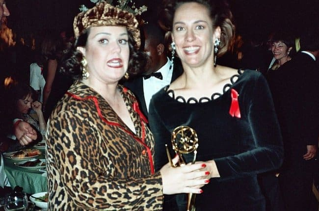 Laurie Metcalf (Right) and Rosie O'Donnell as seen in August 1992