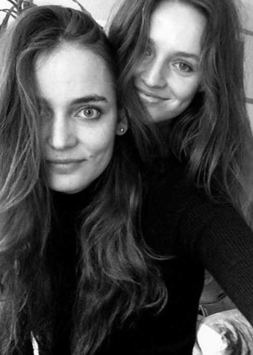 Maddie Kulicka in a selfie with Zuzanna Bijoch in Camden Town, London, UK in April 2016