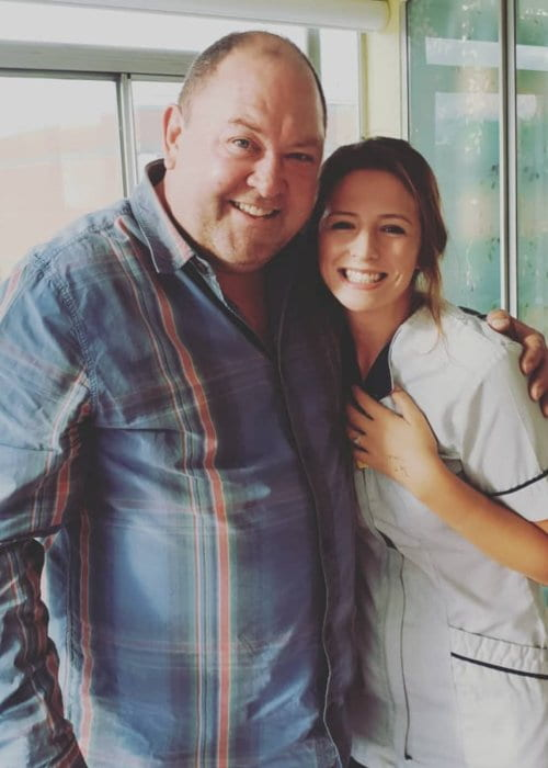 Mark Addy and Becca Snow-Holliday as seen in October 2018