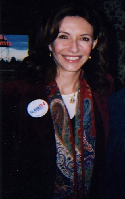 Mary Steenburgen during a campaign in October 2007