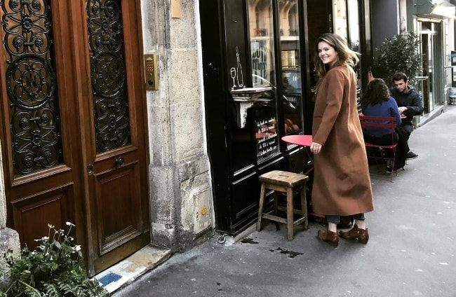 Meghann Fahy posing in Paris