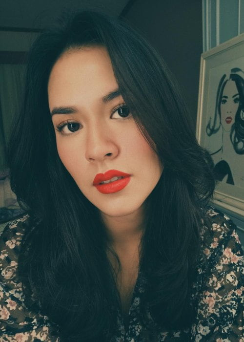 Raisa Andriana in an Instagram selfie as seen in July 2018