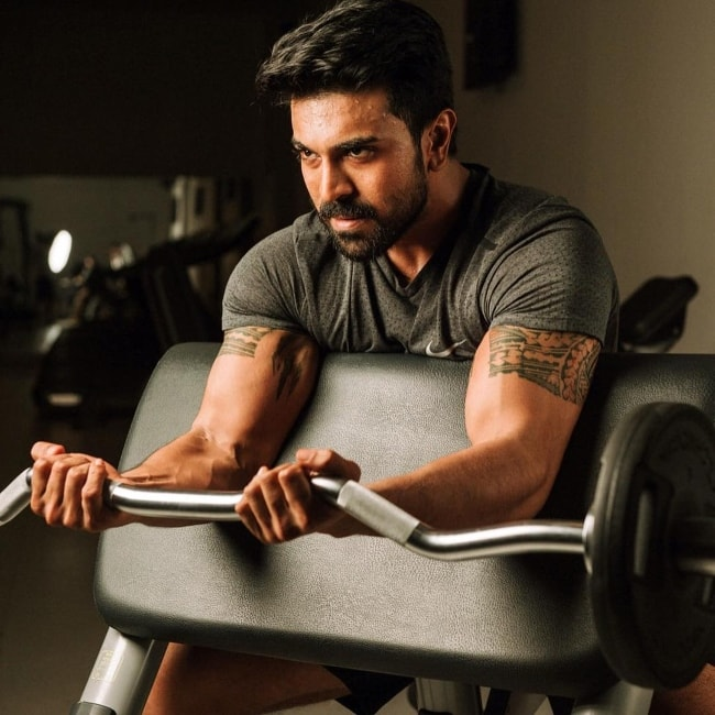 Ram Charan as seen while working out