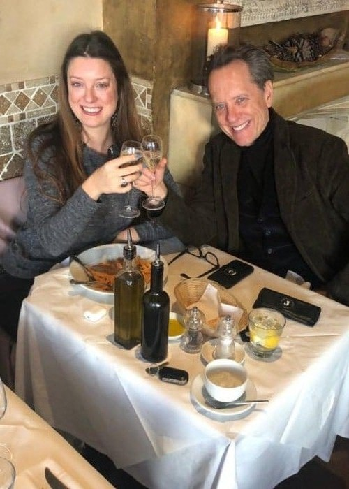Richard E. Grant with his daughter as seen in January 2019