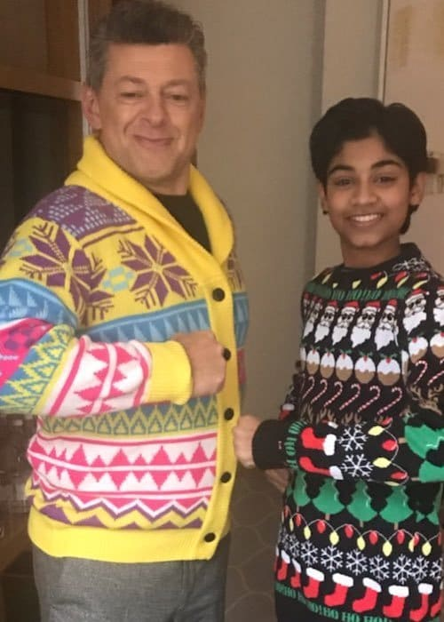 Rohan Chand (Right) and Andy Serkis as seen in December 2018