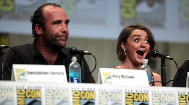 Rory McCann as seen with Maisie Williams at the San Diego Comic-Con International for 'Game of Thrones' in July 2014