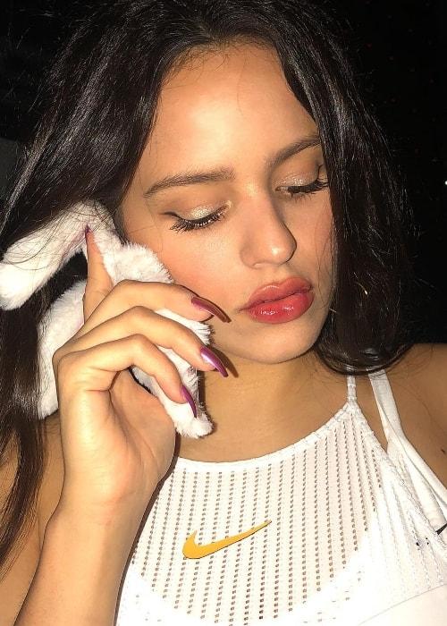 Rosalía in a selfie in June 2018