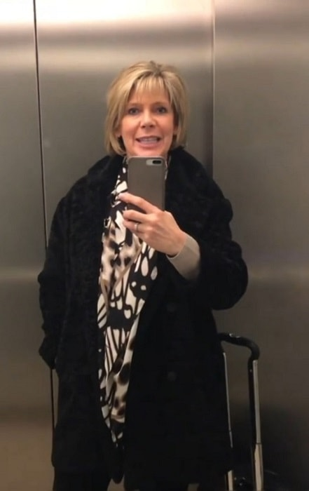 Ruth Langsford in an Instagram selfie in December 2018