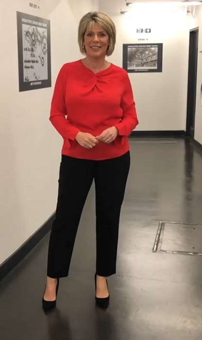 Ruth Langsford showing off her outfit on Instagram in September of 2018