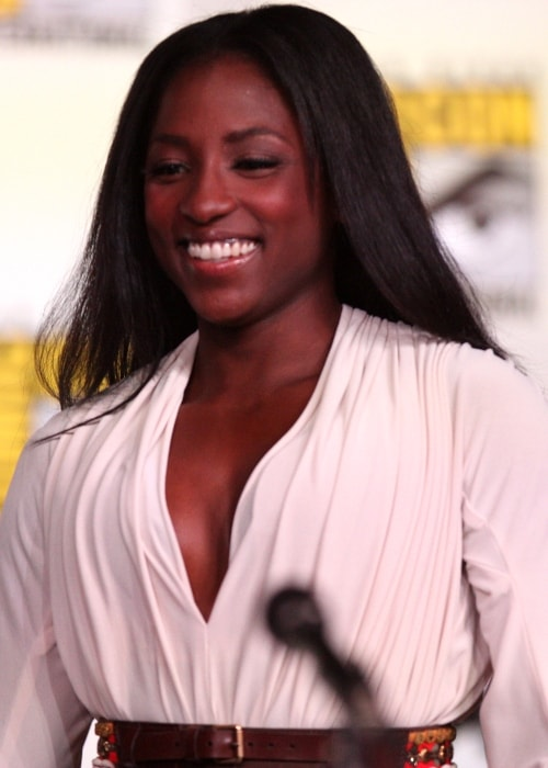 Rutina Wesley smiling while attending the 2012 San Diego Comic-Con International