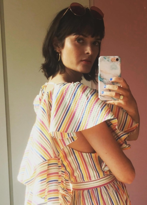 Sam Rollinson in a selfie on May 22, 2018