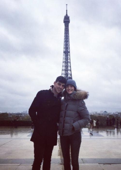 Sam Rollinson with Matt Richardson in Paris, France on November 11, 2018