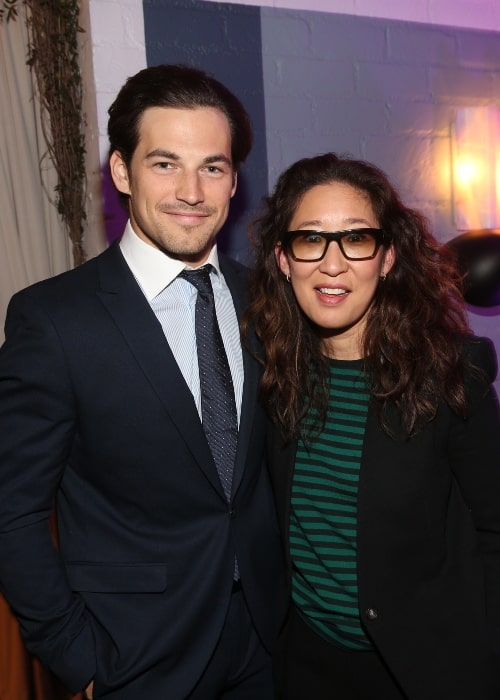 Sandra Oh with Giacomo Gianniotti at the 2016 CFC in L.A. - Honouring Don McKellar