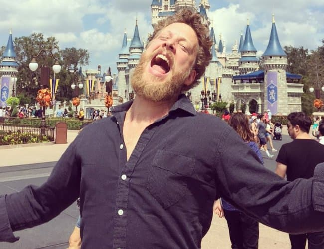 Ted Dwane at Disney World as seen in September 2017