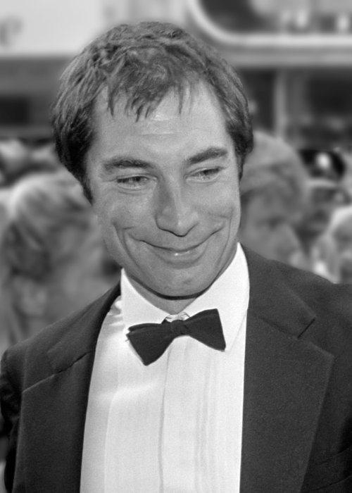 Timothy Dalton at the premiere of The Living Daylights in July 1987