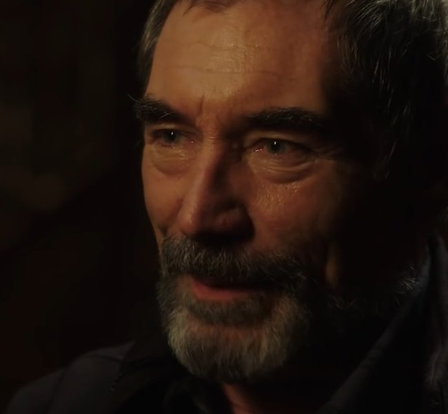 Timothy Dalton during an interview as seen in May 2016