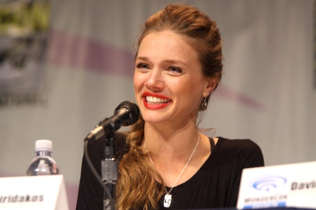 Tracy Spiridakos as seen during the 2013 WonderCon at the Anaheim Convention Center